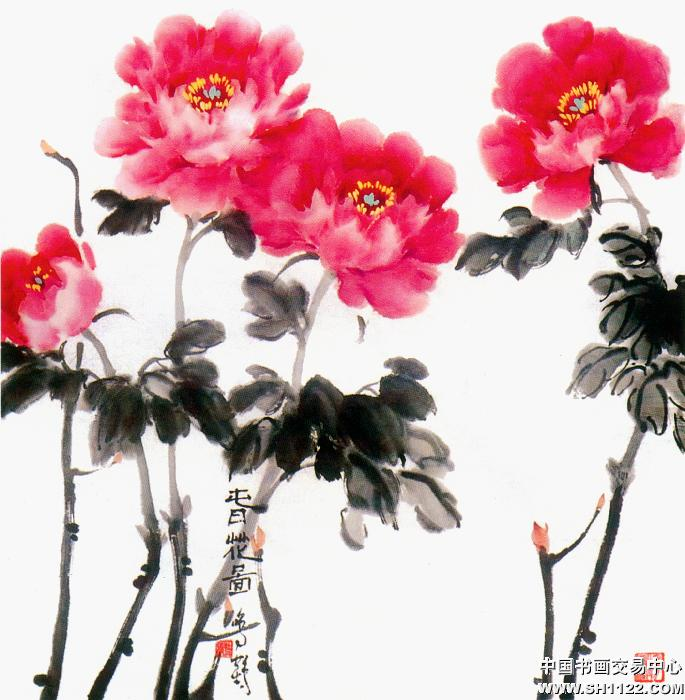 张鸣鹤-春花图-淘宝-名人字画-中国书画服务中心,中国